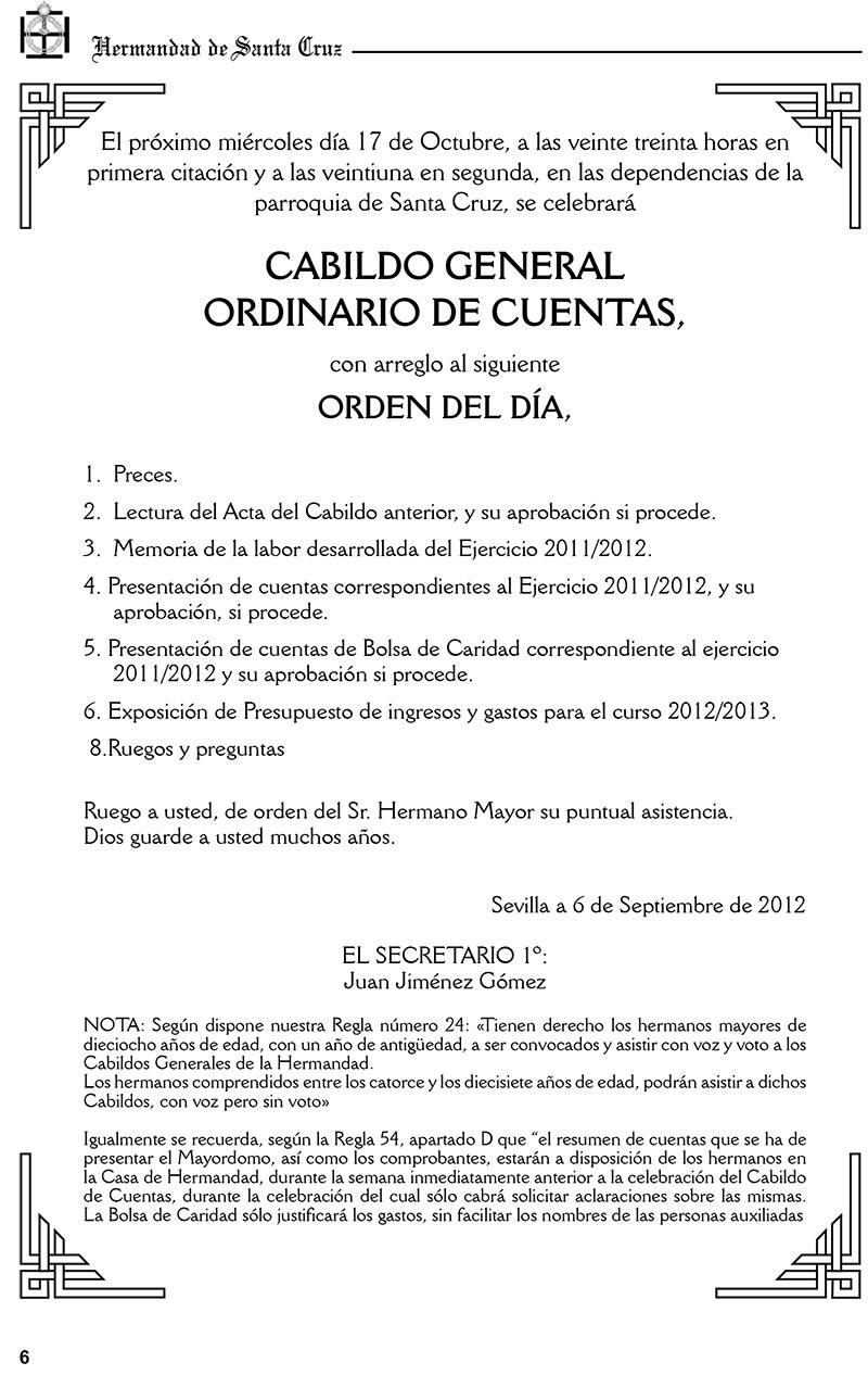 CABILDO GENERAL ORDINARIO DE CUENTAS