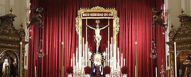 El Stmo. Cristo de las Misericordias presidirá la Parroquia de Santa Cruz hasta que termine el Año de la Fé.