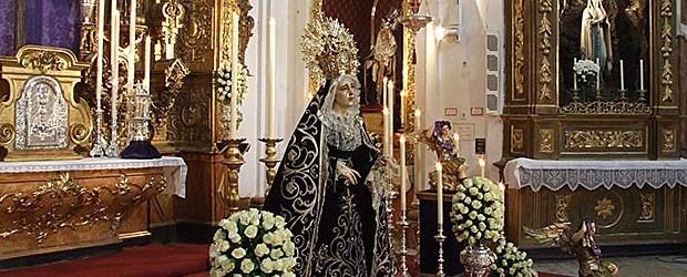 Esta Antigua Hermandad, para mayor honor y veneración de la dulcísima Madre del Redentor y Madre nuestra, María Santísima, los días 7 y 8 (mañana y tarde) de Diciembre de 2014, día en que la Iglesia Universal celebra la Solemnidad del soberano misterio de su Inmaculada Concepción, expondrá durante todo el día, a la veneración de los fieles en devoto y solemne BESAMANO la Sagrada Imagen de su bendita Titular NUESTRA SEÑORA DE LOS DOLORES.
