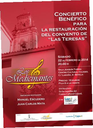 """concierto benéfico para a restauracion del convento de """"las Teresas"""""""
