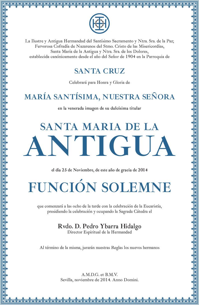 Función solemne Santa María de la Antigua