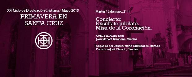 Martes 12 de mayo a las 21h Coral San Felipe Neri Juan Manuel Barahona, director Orquesta del Conservatorio Cristóbal de […]