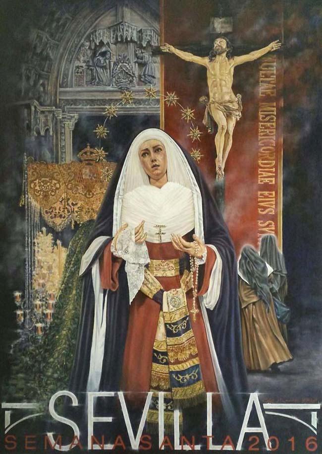 Cartel de la Semana Santa de Sevilla 2016, autor, D. César Ramírez.
