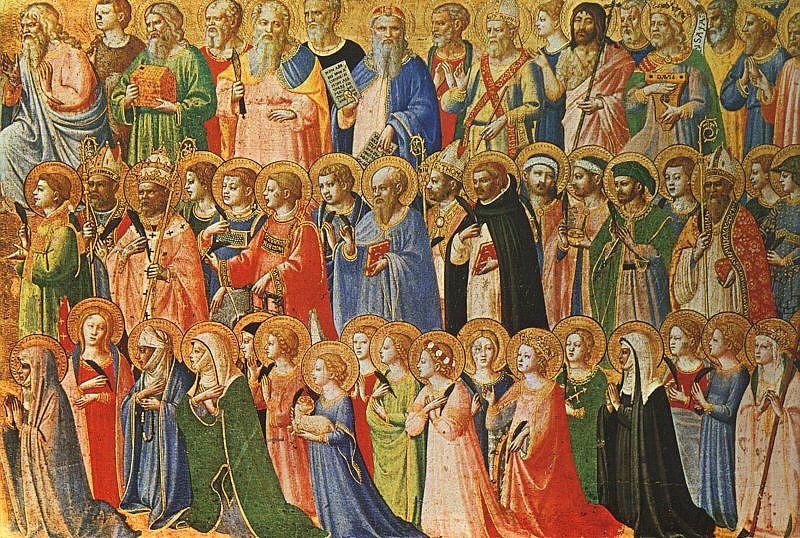 Todos los Santos, pintado por Fra Angelico.