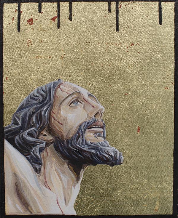Óleo, esmalte y pan de oro sobre lienzo. Autora: Mariajosé Gallardo