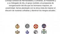 Las Hermandades del Martes Santo quieren agradecer al Consejo General de Hermandades y Cofradías, al Presidente y a su Delegado […]