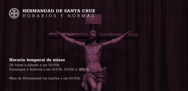 Horario temporal de misas De lunes a sábado a las 20:00h. Domingos y festivos a las 10:00h, 13:00h y 20:00h. […]