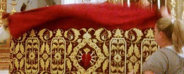Con motivo del Solemne Triduo a Nuestra Señora de los Dolores, se estrenará, D.m., el nuevo dosel que, para realzar los cultos de la Hermandad, ha realizado de manera desinteresada nuestra hermana y camarera de Santa María de la Antigua, Dª Gisela Delgado