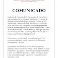 La Junta de Gobierno de La Hermandad de Santa Cruz, tras consultar con su Director Espiritual, y a vista de […]